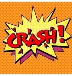 Crash comic text bubble vector