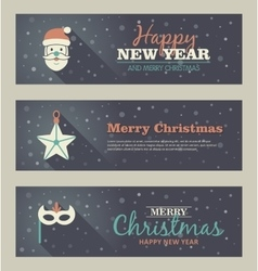 Set of christmas banner vector