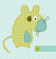Cartoon mouse greeting card vector