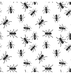 Seamless ant colony insect pattern vector