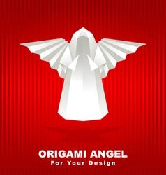 origami angel vector image