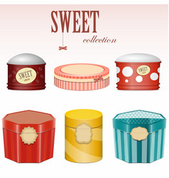 Candy gift boxes vector