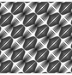 Design seamless monochrome stripy pattern vector