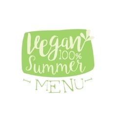 Vegan summer calligraphic cafe board vector
