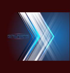 abstract arrow light on blue design modern futuris vector image vector image