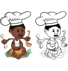 African Chef cook vector image vector image