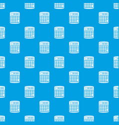 An electronic calculator pattern seamless blue vector