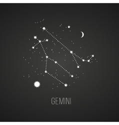 Astrology sign on Gemini chalkboard background vector image vector image