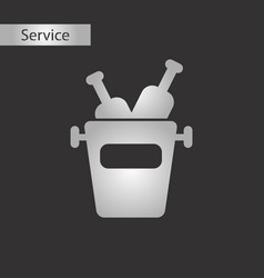 black and white style bottle bucket vector image