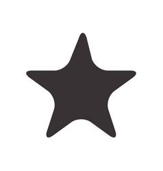 black star symbol icon design vector image