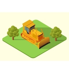 Bulldozer heavy machine vector