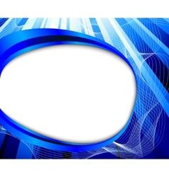 business card - wave vector image vector image