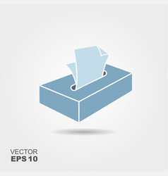 Cartoon tissue box vector