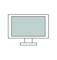 Computer screen technology vector