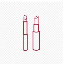 Cosmetic lipstick line icon vector