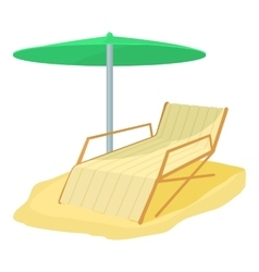 Deck chair icon cartoon style vector image