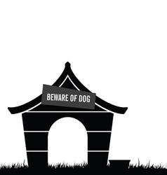 Dog house black vector
