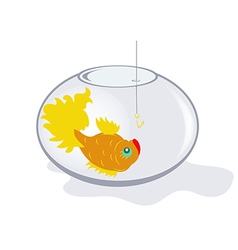 Fish in an aquarium vector image vector image