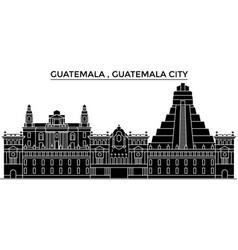 guatemala guatemala city architecture vector image