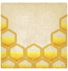 honeycomb old background vector image