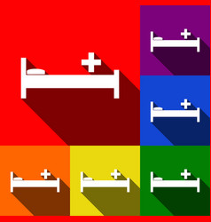 Hospital sign set of icons vector