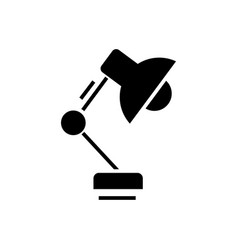 lamp office desk icon black vector image