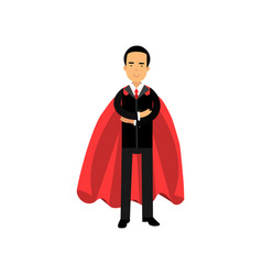 male superhero in classic business suit with tie vector image vector image