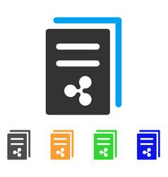 Ripple price copy icon vector