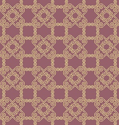 Seamless Golden Geometric Pattern vector image vector image