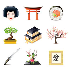 set japan vector image
