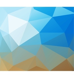 Triangle background Blue polygons vector image vector image