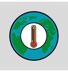 Warming global environment concept icon vector