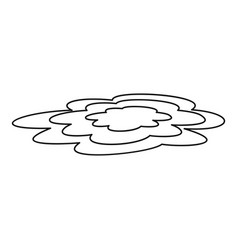 Water puddle icon outline style vector