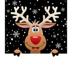 rudolph deer vector image