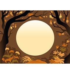 Background of autumn trees vector image