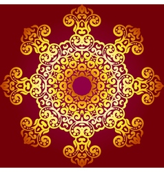 Rich gold ornament in the indian style bohemian vector