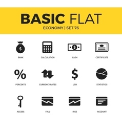 Basic set of economy icons vector