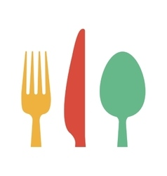 Restaurant cutlery utensils vector image