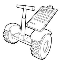 Rent segway icon outline style vector
