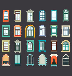 stone or plastic windows exterior view vector image