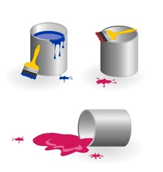 Jars of paint vector image