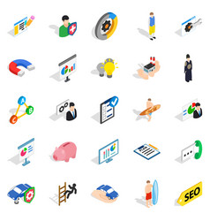 Person icons set isometric style vector