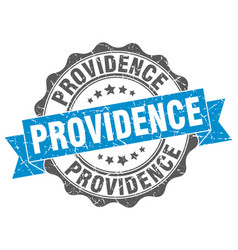 Providence round ribbon seal vector