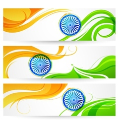 Tricolor india banner vector