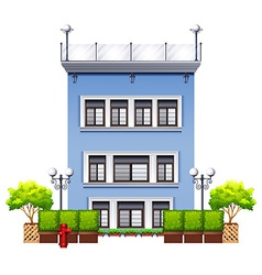 A tall commercial property vector
