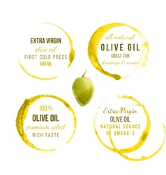 Oil stains with type designs vector image