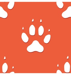Dog footprint seamless pattern vector