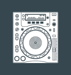 Solid color dj cd player device vector