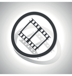 Curved movie sign icon vector