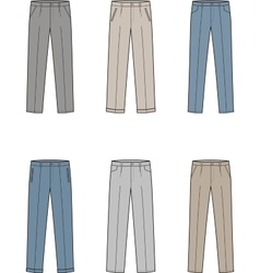 Business pants vector
